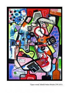 """""""Open Mind"""", 60x80 Helen Kholin Copenhagen 2015 acrylic on canvas"""