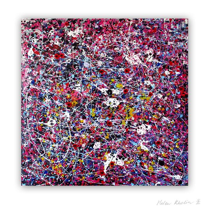 5 People stars nr 5 sold painting abstrakte malerier solgt kunst helen kholin