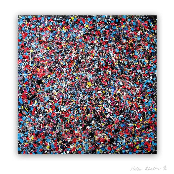 6 People stars nr 6 kunst malerier til salg painting for sale abstrakte stjerner helen kholin