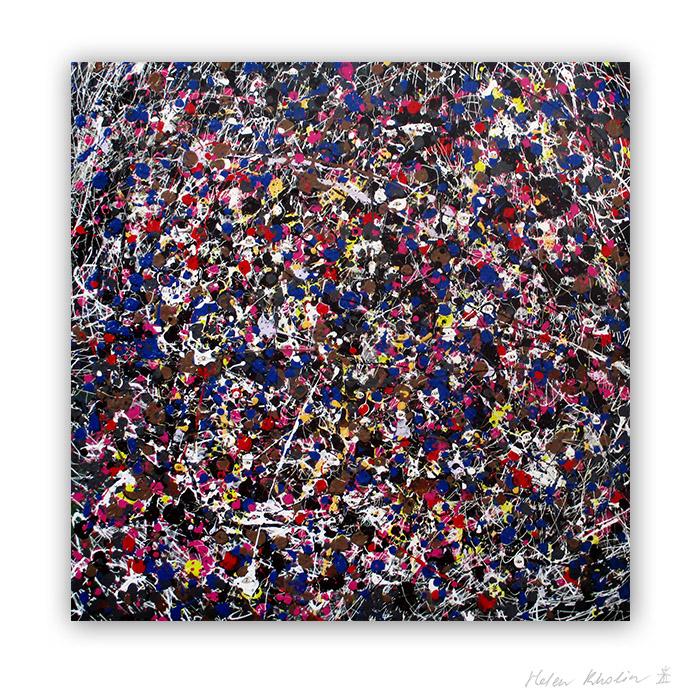 7 People stars nr 7 50x50 cm kunst malerier til salg painting for sale abstrakte stjerner helen kholin