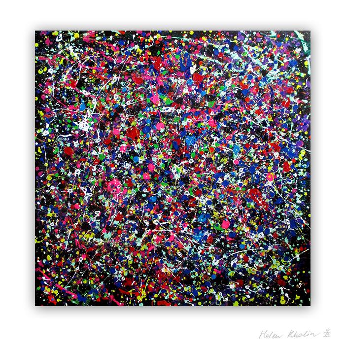 9 People stars nr 9 80x80 cm stjerner kunst malerier til salg painting for sale abstrakte helen kholin