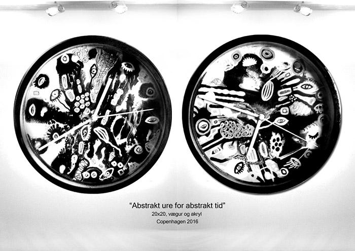 Abstrakt ure for abstrakt tid helenkholin hvid og sort 1