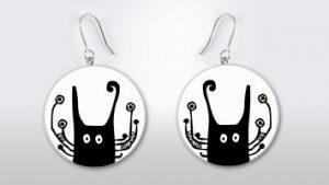 Helen Kholin Earrings cats man