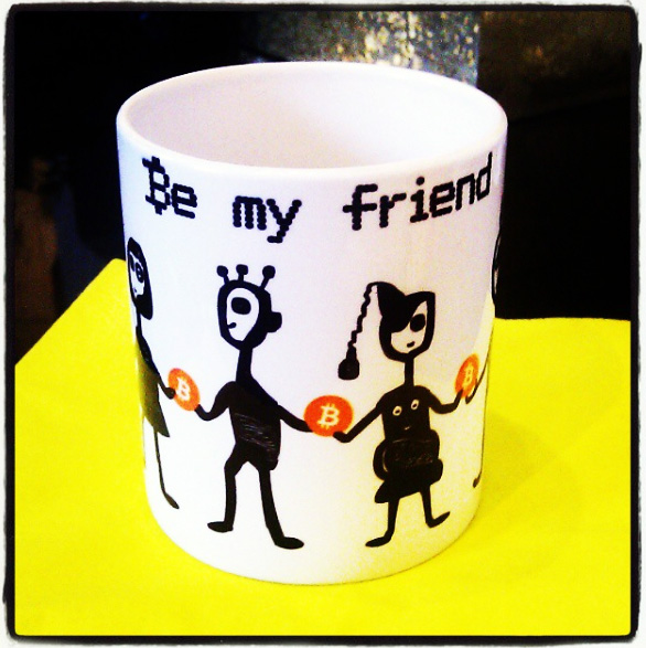 bitcoin my friend mug be my friend helen kholin kunstkrus