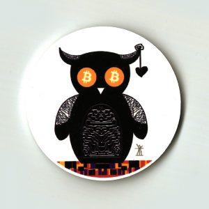bitcoin owl magnet helen kholin helenkholin