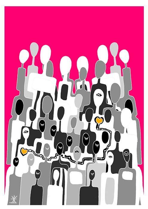 find your love valentinsdag Valentine's Day helen kholin postkort postcards helenkholin