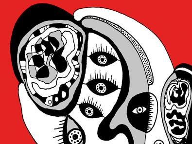 helen kholin grafik kunst people and red mennesker og rød helen kholin prints