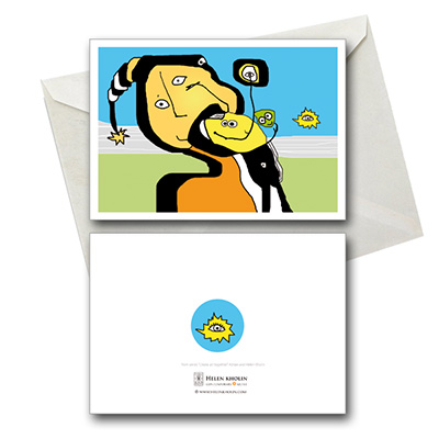 happy friends fødselsdagskort postkort postcard helenkholin postkort helen kholin