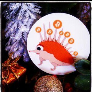 hedgehog bitcoin magnet pindsvin helen kholin helenkholin new year