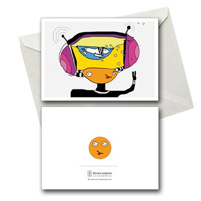i love music leg elsker musik postkort postcard helenkholin helen kholin
