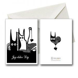 jeg elsker dig fødselsdagskort postcard helenkholin postkort helen kholin