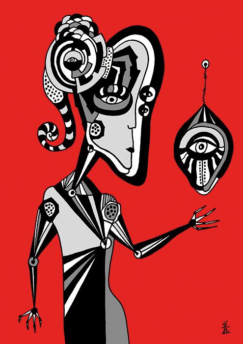 people and red helen kholin prints grafik kunst 6