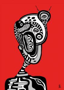 people and red helen kholin prints grafik kunst print 4