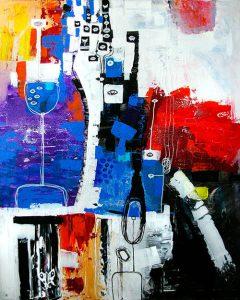 helen kholin people, sea, thoughts painting store malerier helenkholin havet tanker