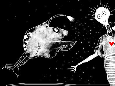 postkort 2017 helen kholin illustrationer illustrations create together kosmiske kunst
