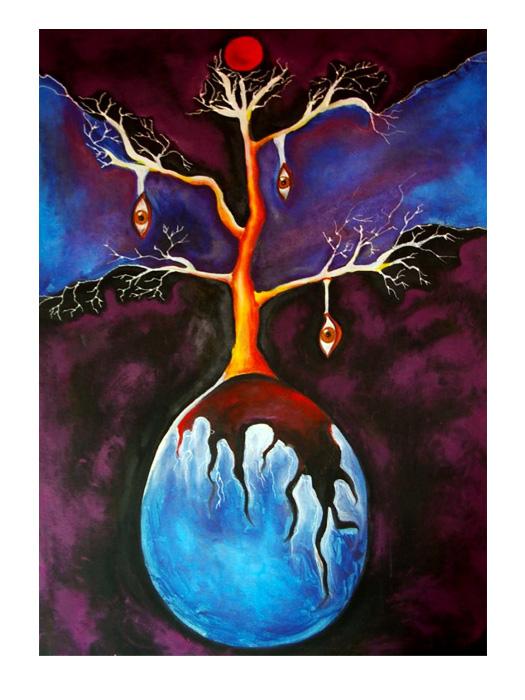 serie dreams nr 11 helen kholin painting maleri