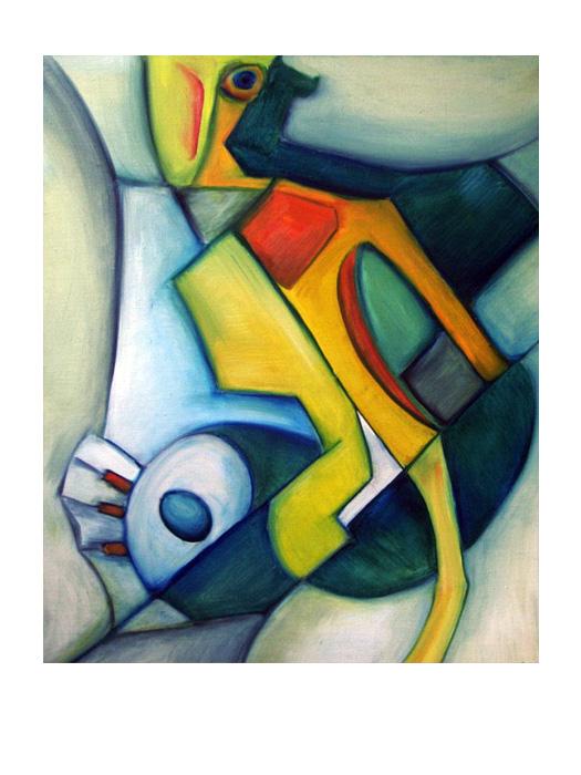 serie dreams nr 25 helen kholin painting maleri