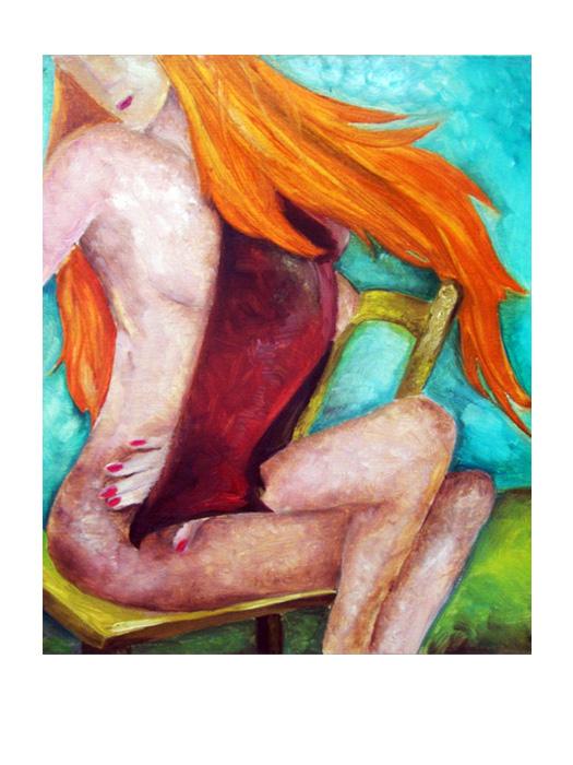 serie dreams nr 40 helen kholin painting maleri