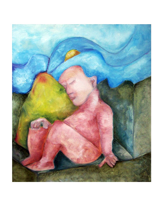 serie dreams nr 5 helen kholin painting maleri
