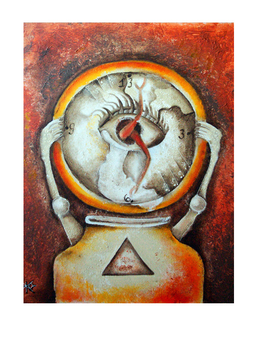 serie dreams nr 50 26 time helen kholin painting maleri