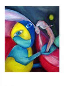 serie dreams nr 7 helen kholin painting maleri