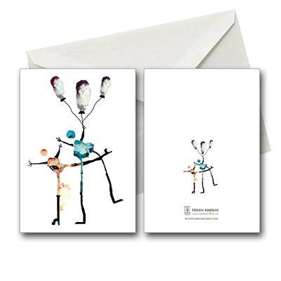 together fødselsdagskort in love people postkort postcard helenkholin postkort helen kholin