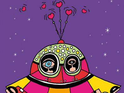 together love stars valentinsdag Valentine's Day helen kholin postkort postcards helenkholin