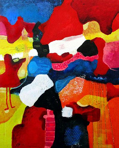 waiting for miraculous rain venter paa mirakulous regn helenkholin abstrakt maleri