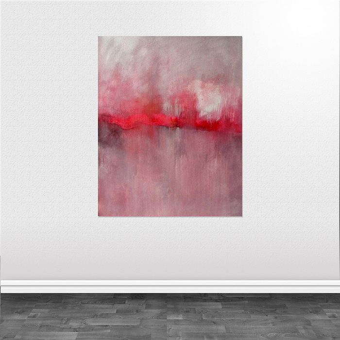 abstrakte malerier pink Silence The Color of Silence helen kholin wall