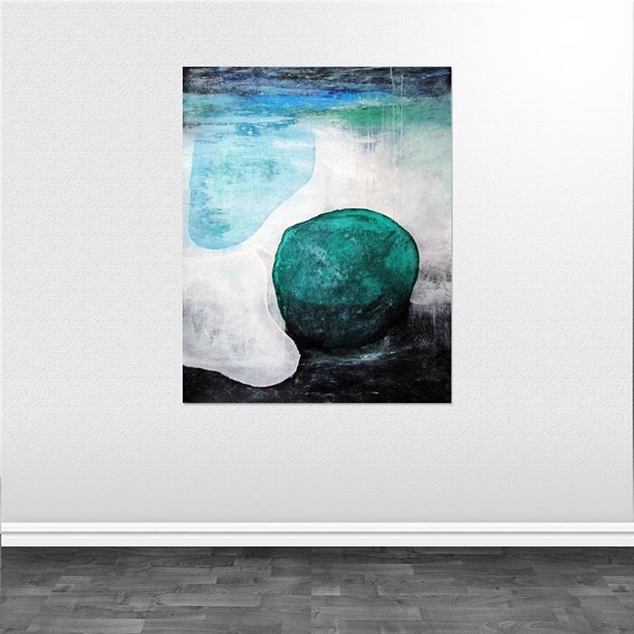 abstrakte malerier vand Water and stone helen kholin
