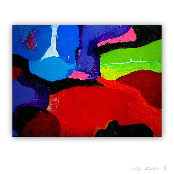 1 Man Woman Flower Mand Kvinde Blomst 90×120 acrylic on canvas Cph 2016 Fairytales of Earth helen kholin abstrakte malerier til salg painting