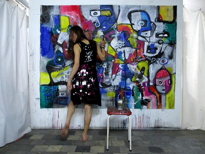 store og farverige malerier til salg dansk kunstner helen kholin 1