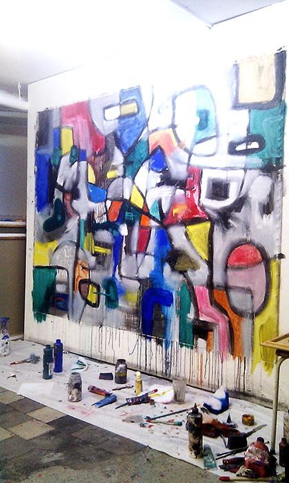 work in progress helenkholin kunst maleri
