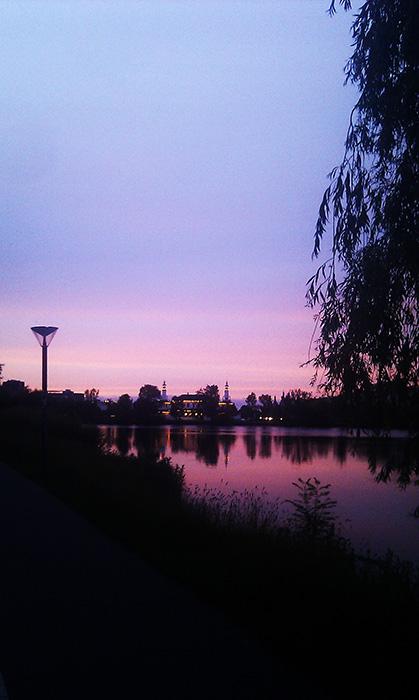 solnedgang i koebenhavn sommer kunst inspiration