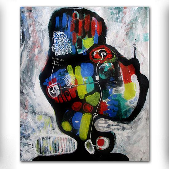 UFO nr 2 abstrakte malerier til salg helen kholin abstract paintings for sale