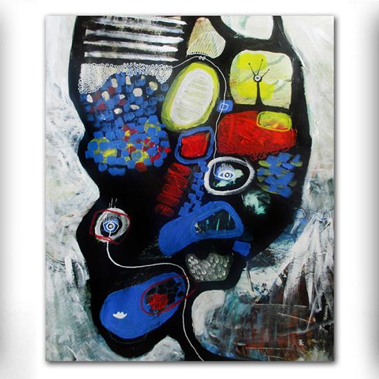 UFO nr 3 abstrakte malerier til salg helen kholin abstract paintigs for sale