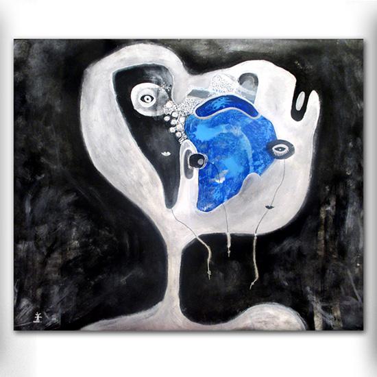 UFO nr 5 abstrakte malerier til salg helen kholin abstract paintings for sale