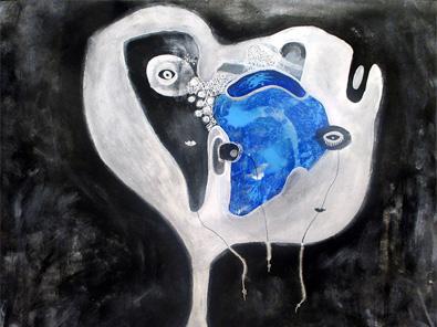 nye abstrakte malerier til salg helen kholin ufo serie