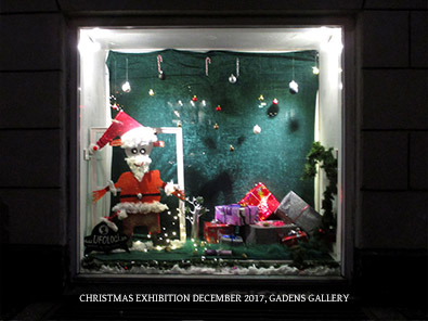 Christmas exhibition December 2017 Gadens Galleri helen kholin ryesgade