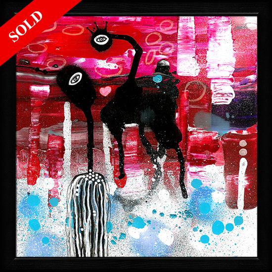 Magic man and alien creature sold art helen kholin