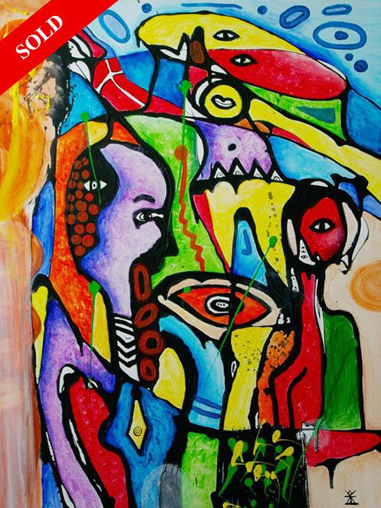 People - holidays sold art helen kholin monaco solgt kunst