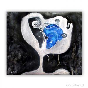 5 UFO 5 kosmiske kunst 50×60 cm helen kholin abstrakte malerier til salg painting