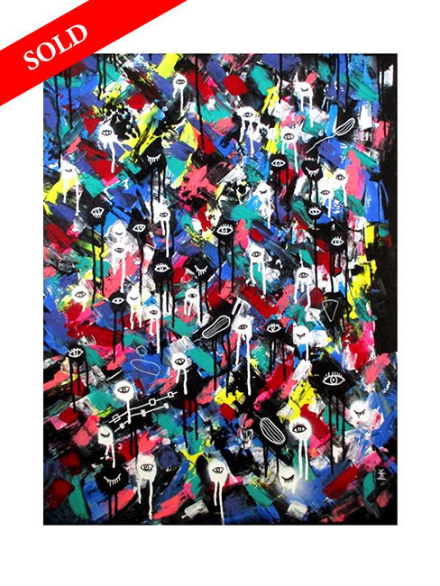 sold art Colorful World #3 from series: Planet of Eyes by Helen Kholin