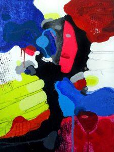 Indivisible - Divisible 80x60 solgt abstrakte malerier helen kholin