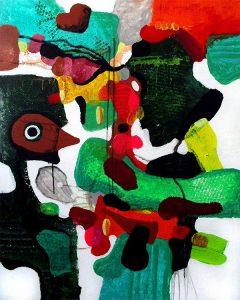 The third eyes connection third-eye chakra 100x80 abstrakte malerier helen kholin
