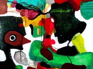 Billedserie Fairytales of Earth abstract art helen kholin store abstrakte malerier