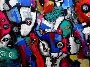 Billedserie Fairytales of Universe abstract art helen kholin store abstrakte malerier
