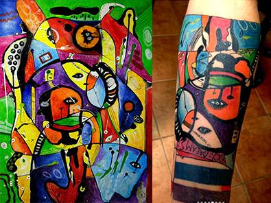 bitcoin Tattoo helen kholin btc dreams Arturo Vargas