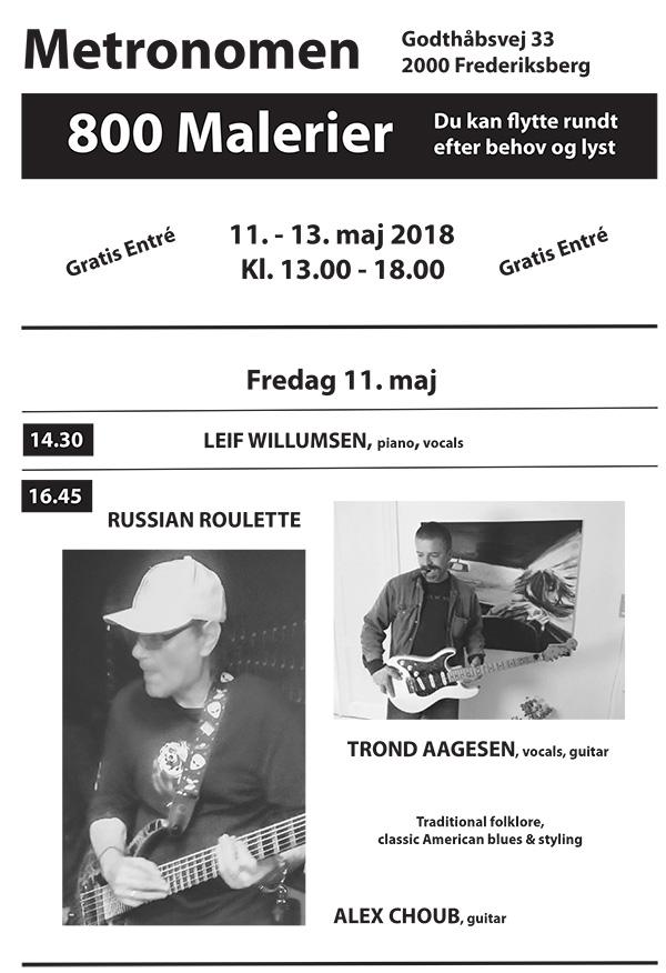 3 Festdage for Maleriet i Metronomen 11– 13 maj 2018 program 1