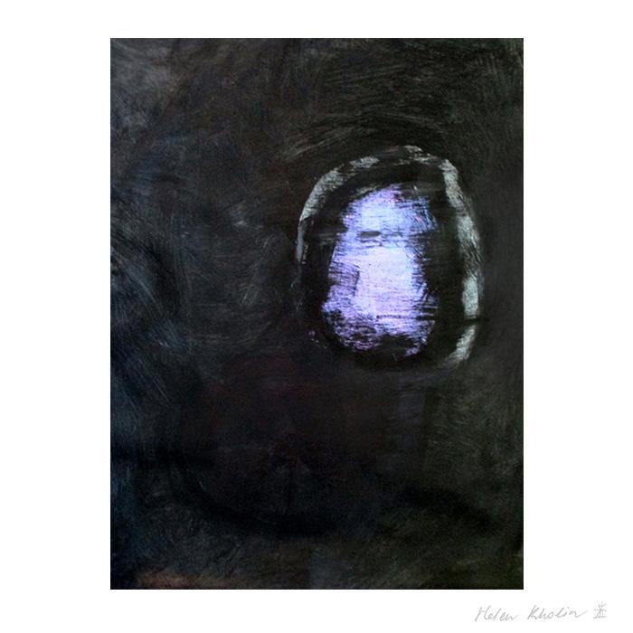 2 paintning abstrakt maleri space 2 helen kholin canvas 80x60 cm ramme